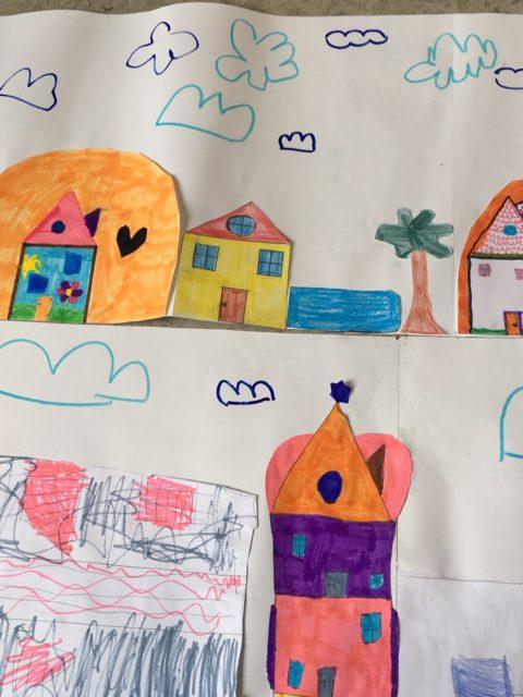 Oeuvre d'art effectuée pendant les TAP à l'école de La Courbe