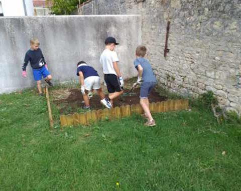 Les zigotos s'occupent du jardin potager de la SLEP