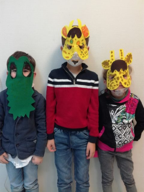 Masques de la jungle et construction mercredi